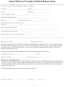 School District Of Crandon Medical Release Form