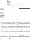 Business Personal Property Return - Short Form