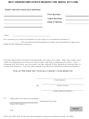 Self Insured Employers Request For Denial Of Claim