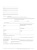 Counter Affidavit And Summons (small Claims) Form