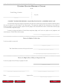 Consent To Proceed Before A Magistrate Judge In A Misdemeanor Case