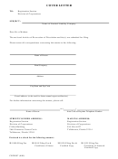Cover Letter Template - Registration Section Division Of Corporations