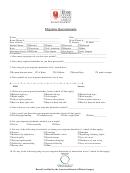 Migraine Questionnaire Template