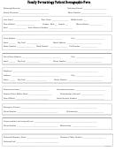 Family Dermatology Patient Demographic Form