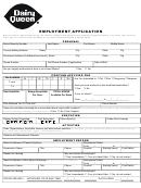 Employment Application Template