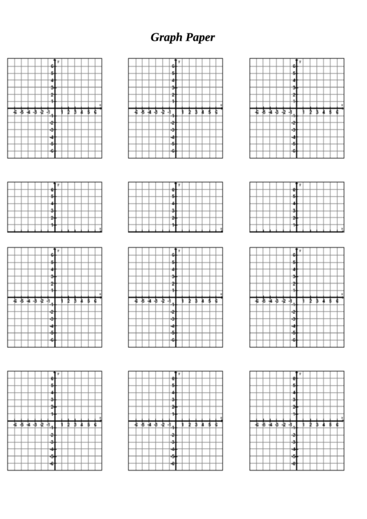 Graph Paper Templates With Axis