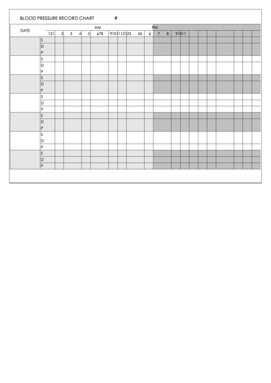Blood Pressure Record Chart Printable pdf