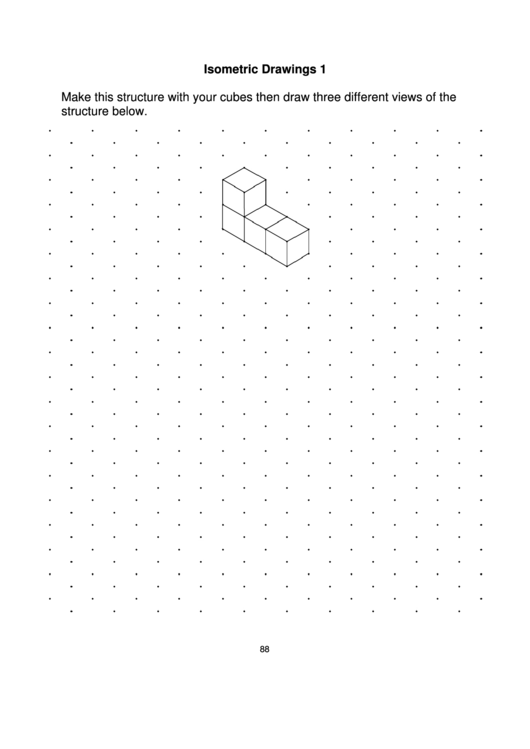 Isometric Dot Paper (One Centimetre) Printable pdf