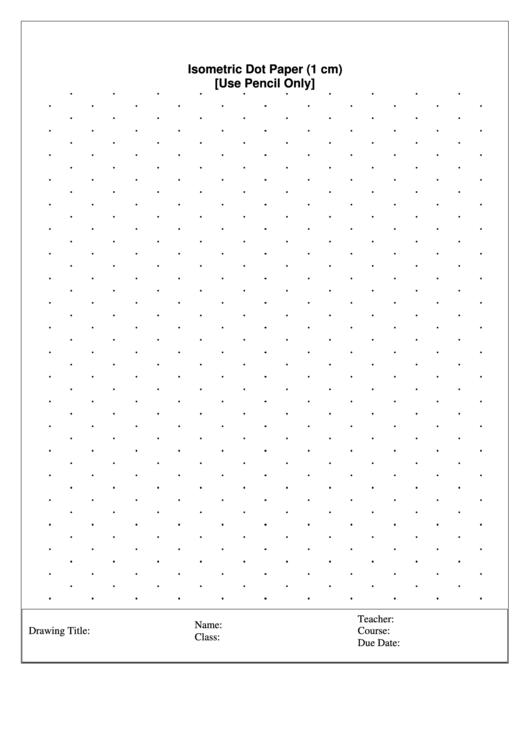 Isometric Dot Paper (1 Cm)