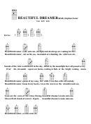 Beautiful Dreamer (bar) - Stephen Foster Chord Chart