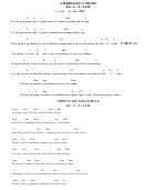 A Hard Day's Night Chord Chart