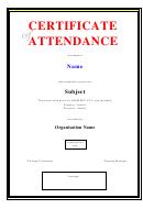 Certificate Attendance