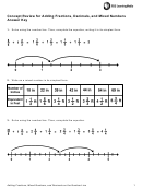 Concept Review For Adding Fractions, Decimals, And Mixed Numbers Answer Key Template