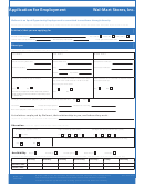 Form Wmp - 24 Z - Application Form For Employment Walmart Stores