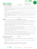 Cv Sample Interactive Product Manager
