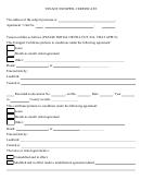 Tenant Estoppel Certificate