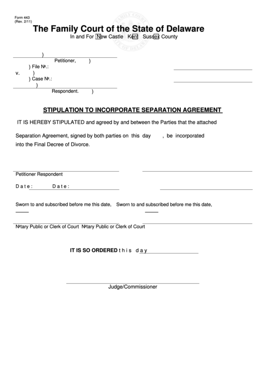 8 Separation Agreement Templates Free To In PDF