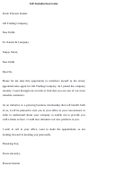 Sample Self-introduction Letter Template
