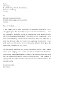 Sample Letter Of Introduction Template