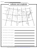 Latitude And Longitude Worksheet Template (with Answers)