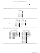 Employee Work Schedule Form