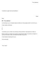 Sample Complaint Letter To Landlord