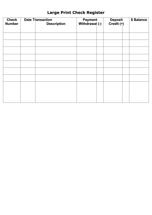 Top 23 Check Register Templates free to download in PDF format