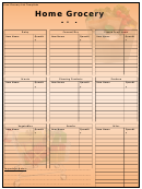 Grocery List Template - Home Grocery