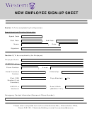 New Employee Sign-up Sheet Template