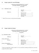 Sample Caption For General Pleadings