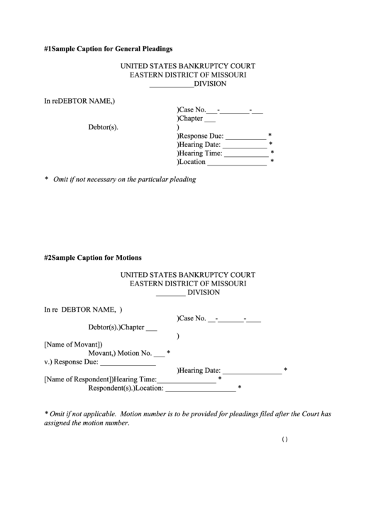 Top 29 pleading paper templates free to download in pdf format for Legal caption template