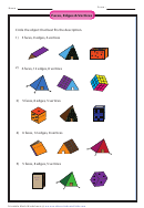 Faces Edges And Vertices Math Worksheet