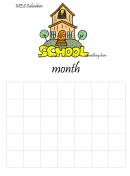 School Month Calendar Template