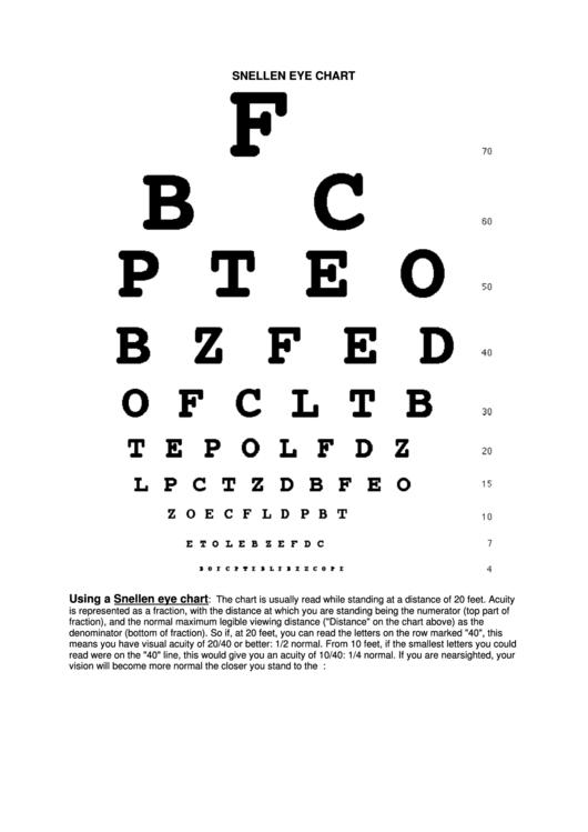 snellen eye chart printable pdf download