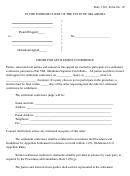 Order For Settlement Conference