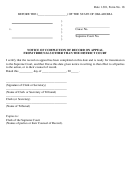 Notice Of Completion Of Record On Appeal From Tribunals Other Than The District Court