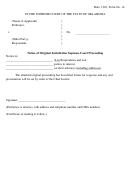 Notice Of Original Jurisdiction Supreme Court Proceeding