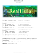 Real Hula Sheet Music