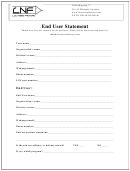 End User Statement