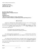 Form Lpa-330 - Property Bill Of Sale - Washington