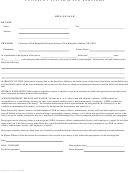 University System Of New Hampshire Bill Of Sale