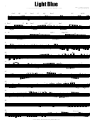 Thelonious Monk - Light Blue Sheet Music