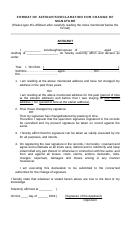 Format Of Affidavit/declaration For Change Of Signature
