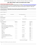 United States Bankruptcy Court - One Time Credit Card Authorization Form