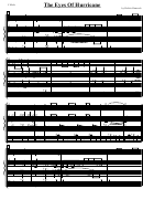 The Eyes Of Hurricane Sheet Music