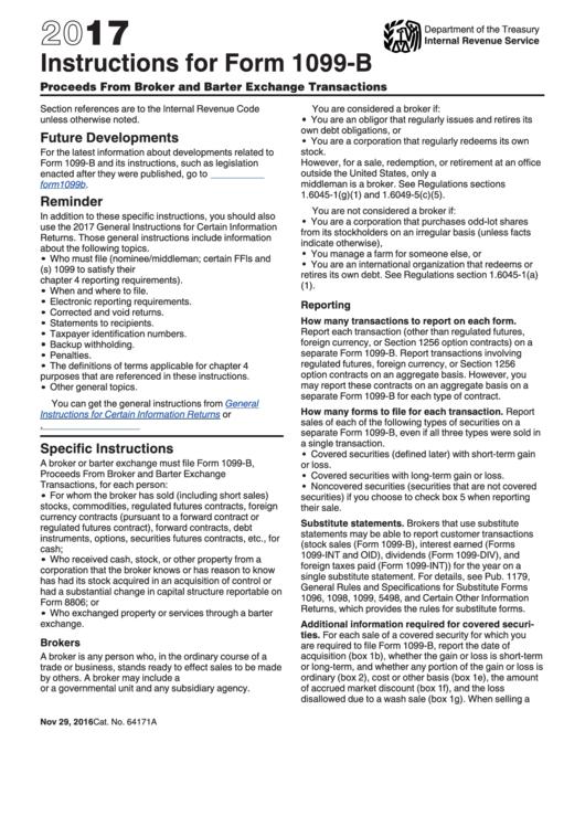 instructions for form 1099 b 2017 printable pdf download. Black Bedroom Furniture Sets. Home Design Ideas