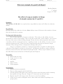 Lab Report Sample