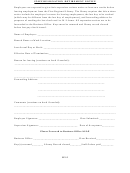 Staff Resignation/retirement Notice Form