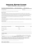 Immanuel Baptist Church Parental Permission Authorization Form