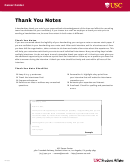 Sample Thank You Note Template With Instructions